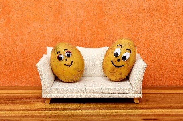 legrační brambory