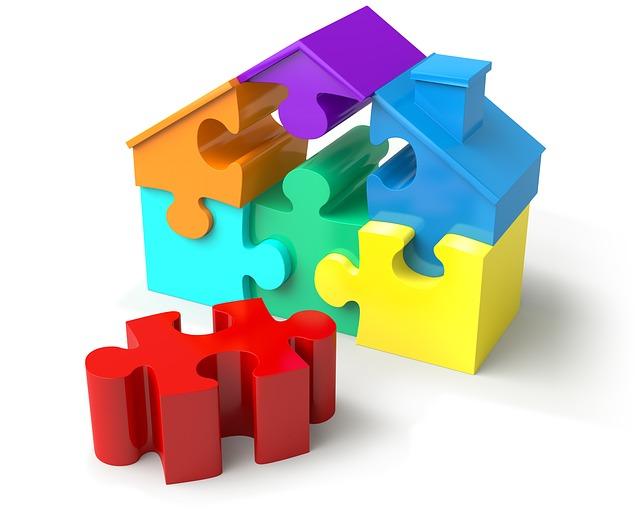 puzzle domek