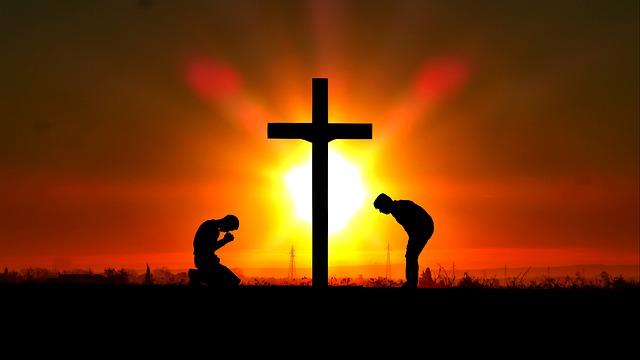 slunce za křížem